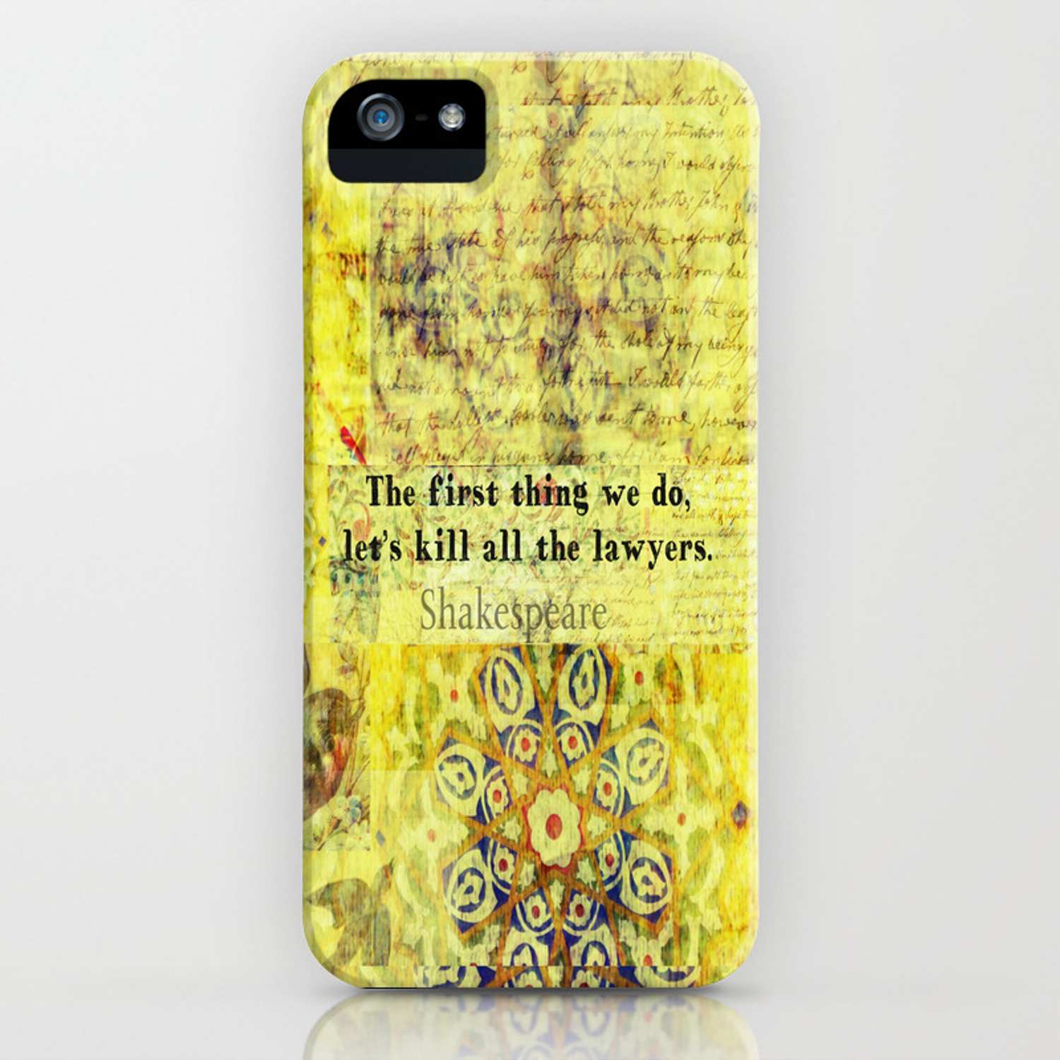 Shakespeare lawyer quote iPhone Case