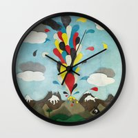 chile Wall Clocks featuring Sur de Chile by i am nito