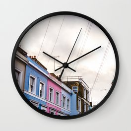 Dreamy Sky over Notting Hill, London Wall Clock