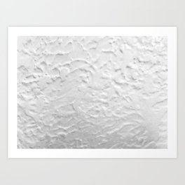White Textured Wall Art Print