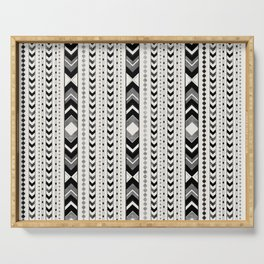 Tribal Arrow Boho Pattern #5 #aztec #decor #art #society6 Serving Tray