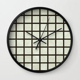 Grid Lines Wall Clock