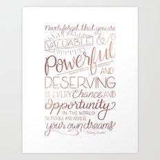 Pursue Your Dreams - Rose Gold Art Print
