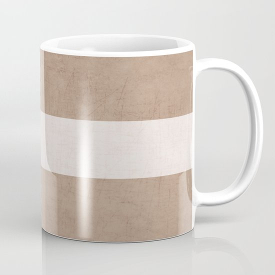 natural and white classic Mug