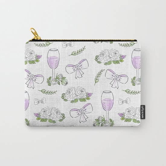 Watercolor seamless romantic print Carry-All Pouch