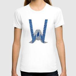 W is for Walrus Letter Alphabet Decor Design Art Pattern T-shirt