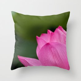 Lotus Pink Nature Throw Pillow
