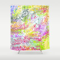 confetti Shower Curtains featuring Confetti by Abstract Designs
