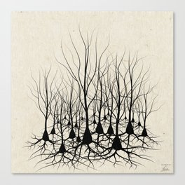 Pyramidal Neuron Forest Canvas Print