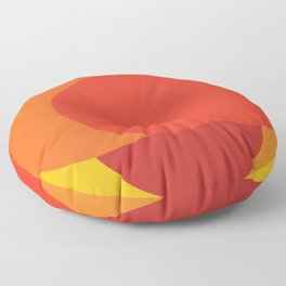 Sixties apple burst Floor Pillow