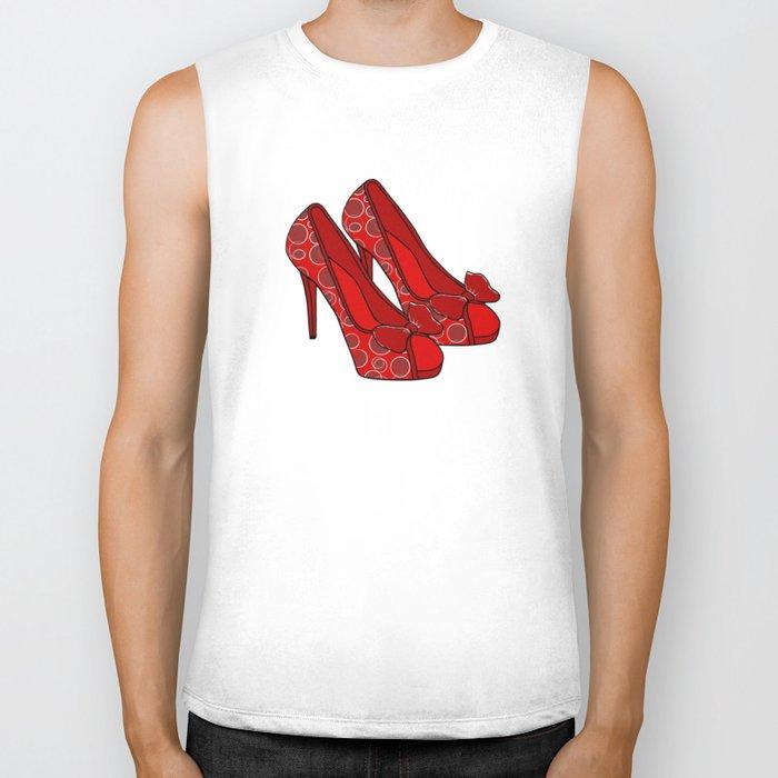 Red Shoes Biker Tank