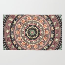 Cat Yoga Medallion Rug