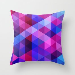 Blue & Pink Geo Throw Pillow