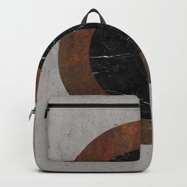 Concrete, Rusted Iron, and Black Marble Abstract Backpack