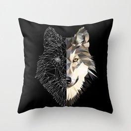 Mixed Wolf Throw Pillow