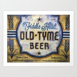 Vermont Brewers Series Fiddlehead Art Print