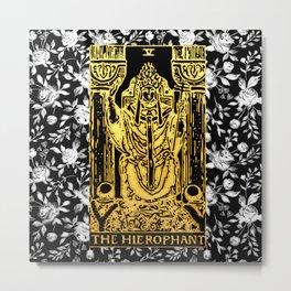 The Hierophant - A Floral Tarot Print Metal Print