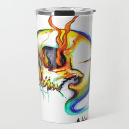 colourd skull Travel Mug