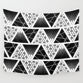 Zentangle Triangles Wall Tapestry