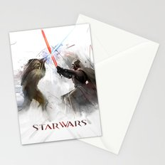 Star wars duel  Stationery Cards