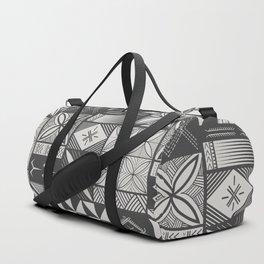 UrbanNesian Grey Siapo and Tatau Duffle Bag