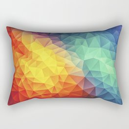 Abstract Multi Color Cubizm Painting Rectangular Pillow