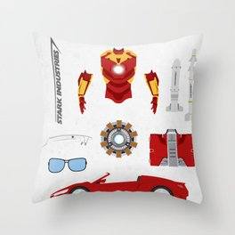 Hero's Stuff - Iron Man Throw Pillow