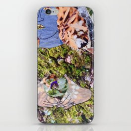 a la Sandro Botticelli, a collage by Cecilia Lee, Whipple Hill Art Collective iPhone Skin