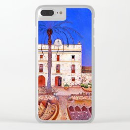 Joan Miro House with Palm Tree Clear iPhone Case