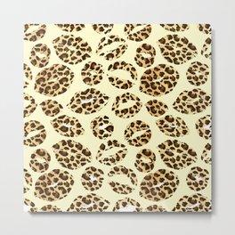 cheetah kissing  Metal Print