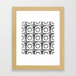 Box Pattern Framed Art Print
