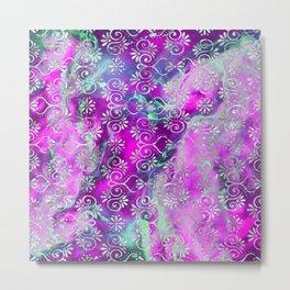 Psicodelic Adventure - Purple Pink Metal Print
