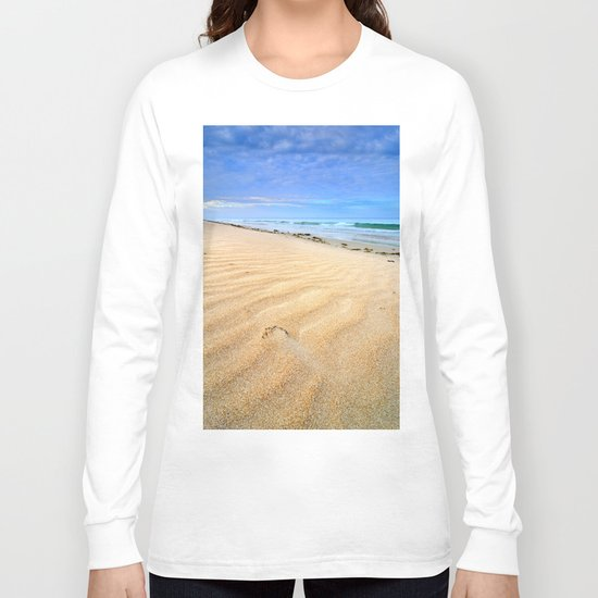 """Levante wind "" Magic Tarifa beach at sunrise Long Sleeve T-shirt"