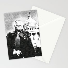 Mary Jane McLeod Bethune - SketchArt - American Educator Society6 Online Artworks 4 Stationery Cards