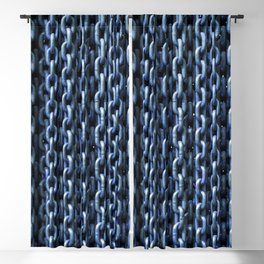 Teal Chains Blackout Curtain