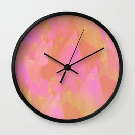 Camouflage CL (Living Coral edition) Wall Clock