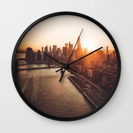 nyc aerial view Wall Clock