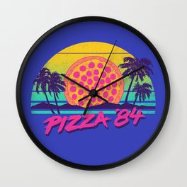 Pizza '84 Wall Clock