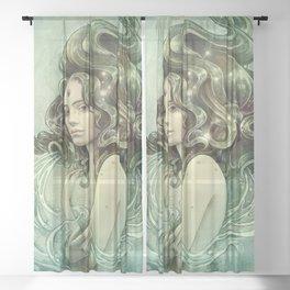 Zodiac Aquarius Sheer Curtain