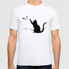 Cat and Navi SMALL Ash Grey Mens Fitted Tee