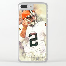 Johnny Manziel Clear iPhone Case