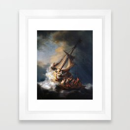 Rembrandt, The Storm on the Sea of Galilee, 1633 Framed Art Print