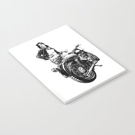 Woman Motorcycle Rider Notebook