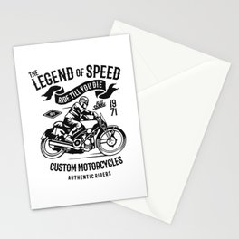 the legend of speed Stationery Cards