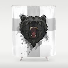 bear cross Shower Curtain