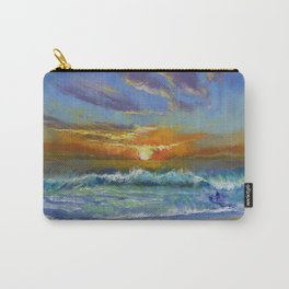 Malibu Beach Sunset Carry-All Pouch
