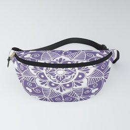 Ultraviolet Flower Mandala Fanny Pack