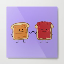 Peanut Butter and Jelly Fist Bump Metal Print