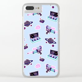 Cosmic Fight III Clear iPhone Case