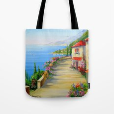 The town by the sea Tote Bag